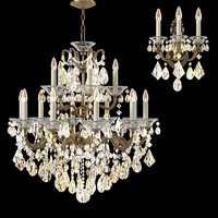 Schonbek la scala 5075 l chandelier  & sconce set